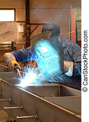 Welder in a workshop