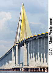 The Manaus Iranduba Bridge called Ponte Rio Negro in Brazil...