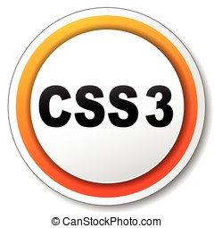 css3 orange icon - illustration of css3 orange icon on white...
