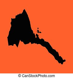 Illustration on an Orange background of Eritrea - An...