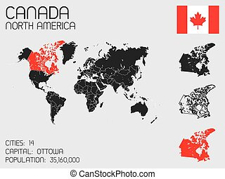 Set of Infographic Elements for the Country of Canada