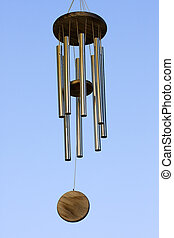 Wind Chimes blowing in the summer air.