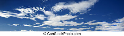 Big sky - A big blue sky with clouds