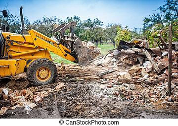 Hydraulic bulldozer crusher, industrial excavator machinery