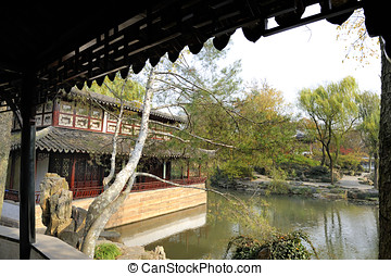 Garden of the Humble Administrator , Suzhou, China. This is...