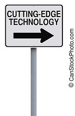 Cutting-Edge Technology - A modified one way street sign on...