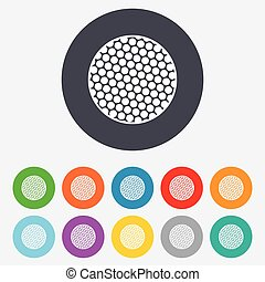 Golf ball sign icon Sport symbol Round colourful 11 buttons...