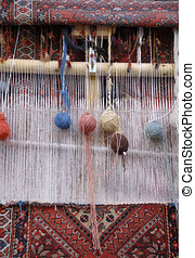 Weaving loom in Iran