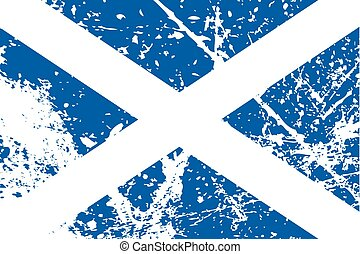 Illustration of a decayted flag of Scotland - An...