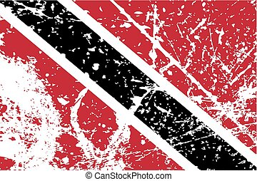 Illustration of a decayted flag of Trinidad and Tobago - An...