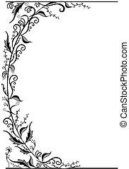 Frame - Vintage floral frame.