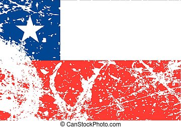 Illustration of a decayted flag of Chile - An Illustration...