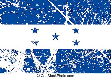 Illustration of a decayted flag of Honduras - An...