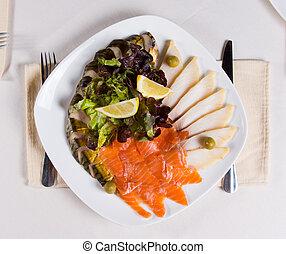 Close up Gourmet Meaty Main Dish - Close up Gourmet...