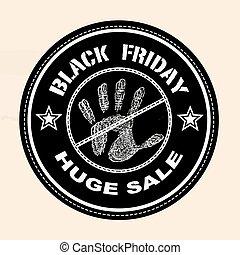 black fridy huge sale stamp