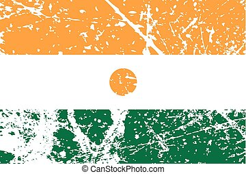 Illustration of a decayted flag of Niger - An Illustration...