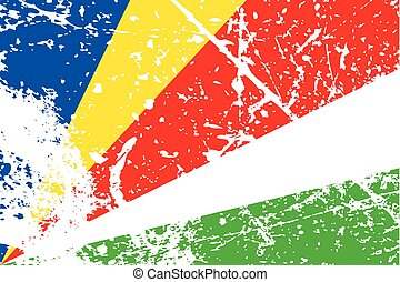 Illustration of a decayted flag of Seychelles - An...