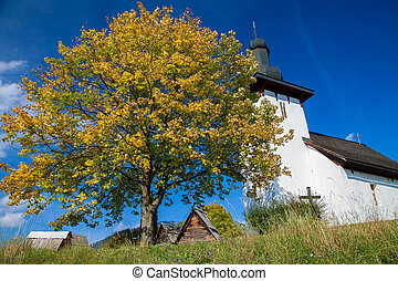 Templar church at village Martincek, Slovakia - Templar...