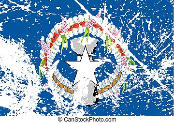 Illustration of a decayted flag of Marianas - An...