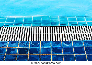 Abstract of Water pool side