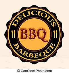 delicious barbeque stamp