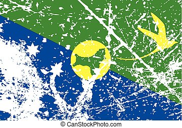 Illustration of a decayted flag of Christmas Island - An...