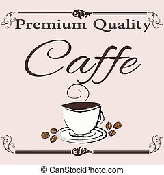 premium quality caffe background with on vector illustration