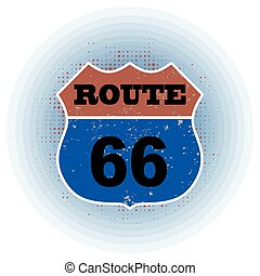 route 66 stamp - route 66 grunge stamp with on vector...