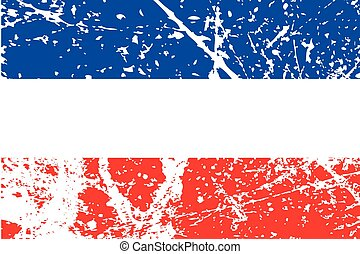 Illustration of a decayted flag of Yugoslavia - An...
