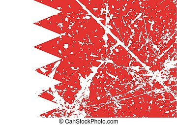 Illustration of a decayted flag of Bahrain - An Illustration...