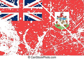 Illustration of a decayted flag of Bermuda - An Illustration...
