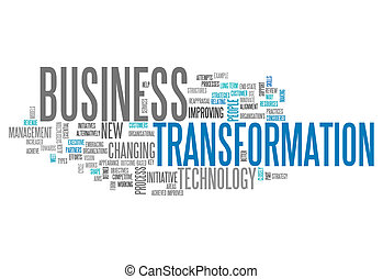Word Cloud Business Transformation - Word Cloud with...