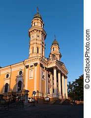 Greek Catholic Cathedral in Uzhhorod, Transcarpathia,...