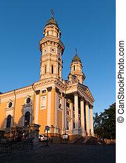 Greek Catholic Cathedral in Uzhhorod, Transcarpathia,...