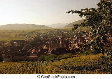 EUROPE FRANCE ALSACE - the olt town of the village of...