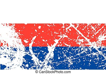 Illustration of a decayted flag of Serbia - An Illustration...