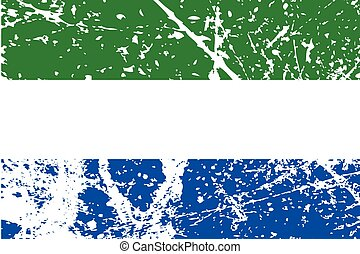 Illustration of a decayted flag of Sierra Leone - An...
