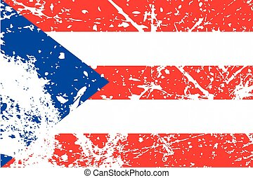 Illustration of a decayted flag of Peurto Rico - An...