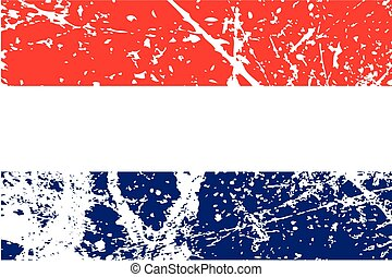 Illustration of a decayted flag of Netherlands - An...