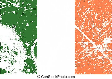 Illustration of a decayted flag of Ireland - An Illustration...
