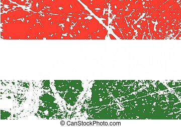 Illustration of a decayted flag of Hungary - An Illustration...