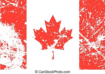Illustration of a decayted flag of Canada - An Illustration...