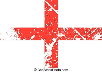 Illustration of a decayted flag of England - An Illustration...