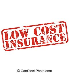 Low cost Insurance - Rubber stamps with text low cost...
