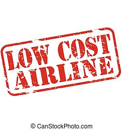 Low cost airline - Rubber stamps with text low cost airline...