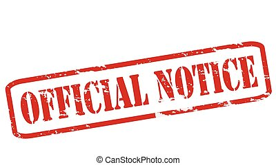 Official notice - Rubber stamps with text official notice...