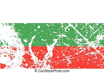 Illustration of a decayted flag of Bulgaria - An...