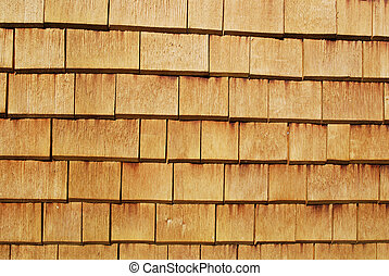 shingles - shingled wall of a bavarian farm house