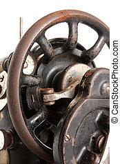 Wheel of Vintage Sewing machine