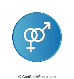 Colorful square buttons for website or app - Sex Symbols - A...